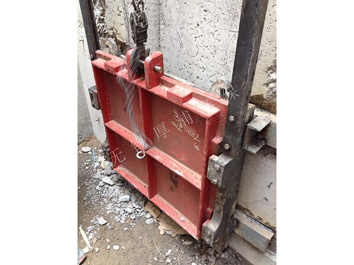 wu海泵站闸门安装现场
